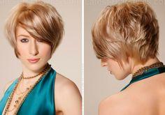 Corte curto e diferente  #shorthair #cabeloscurtos #hairstyle #hair #cabelos #mulheres #cortesdecabelocurto #shorthaircut