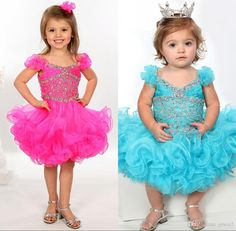 Pageant Dresses for Teens 2017 with Ruched Shoulder Sleeves And Tutu Skirt Style Fushsia Organza Baby Girls Pageant Dress Turq Color Infant Pageant Dresses Little Girls Pageant Dresses Baby Pageant Dresses Online with $114.29/Piece on Grace2's Store | DHgate.com