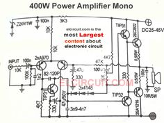 Mosfet High Power Amplifier complete PCB Circuits Circuit