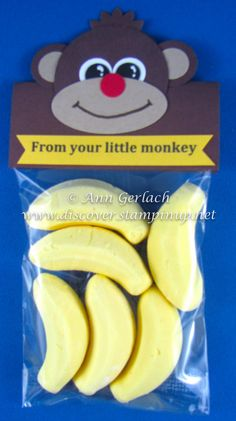 Monkey treat bags with punch art tutorial | Discover Ink – Ann Gerlach Independent Stampin' Up!® Demonstrator