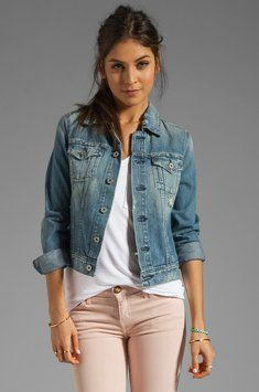 Shop for AG Adriano Goldschmied The Robyn Denim Jacket in Soleil at REVOLVE. Ag Jeans, Adriano Goldschmied Jeans, Revolve Clothing, Get The Look, Passion For Fashion, What To Wear, Casual, Denim Jackets, July 4th