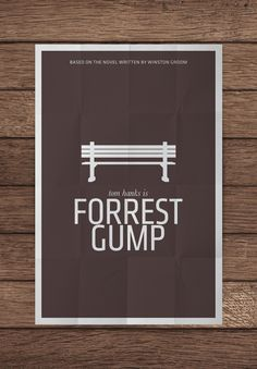 MockUpForrestGumpPNG 20 Brilliant Minimalistic Movie Posters