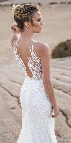 lian rokman 2017 bridal sleeveless deep plunging sweetheart neckline full embellishment elegant trumpet wedding dress lace back chapel train (zircon) zbv -- Lian Rokman 2017 Wedding Dresses