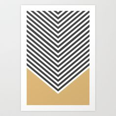 Gold Chevron Art Print by Zeke Tucker - $17.68