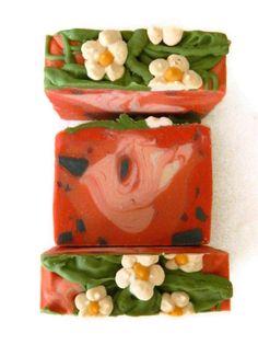 Artisan Soap / Handmade Cold Process Soap / Strawberry Soap for children Eco Friendly