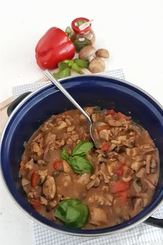 Italian Recipes, New Recipes, Cook At Home, Stew, Slow Cooker, Oatmeal, Beans, Food And Drink, Yummy Food