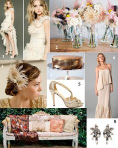 Great wedding color combination but with coralish color instead of pink