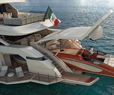 The project Cecilia 165′ mega yacht is like a floating five star hotel complete with everything from hot tubs to a helipad. The master cabin features a private ocean-front terrace while the stern lends itself as an internal docking station for your spare yacht.