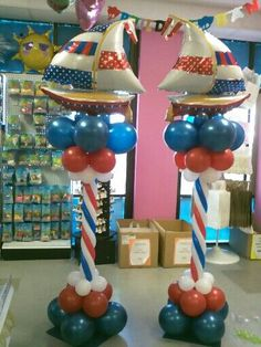Nautical Balloons for Baby Shower