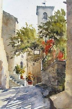 Bill Hook watercolor: