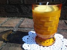 Vintage Orange Scented Whitehall Amber by BlueHenCandleCompany, $16.00