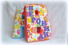 Купить Буквы-подушки, 35 см - буквы подушки, буква подушка, мягкие буквы