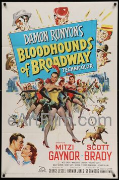 Loving #MitziGaynor on @gettv! https://eartfilm.com/products/bloodhounds-of-broadway-original-movie-poster-mitzi-gaynor #singing #dance #dancing #dancers #fab #fabulous #gettv   Bloodhounds Of Broadway 1952 27x41 Original U.S One Sheet Mitzi Gaynor