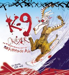 flying dog cruiser label by ralph steadman Ralph Steadman, Hunter S Thompson, Flying Dog, Fear And Loathing, Crazy Man, Caricature, Art Forms, Brewery, Original Artwork