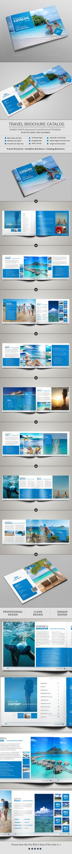 Travel Brochure & Catalog Template — InDesign INDD #11x8.5 #creative brochure • Download ➝ https://graphicriver.net/item/travel-brochure-catalog-template/18924677?ref=pxcr