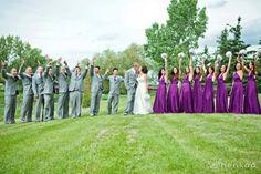 wedding wednesday: plum purple and grey | Henkaa Blog