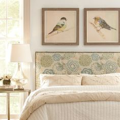 Wyatt Custom Headboard | A simple yet elegant upholstered style covered in luxurious fabric and bordered with eye-catching gold nailhead trim around the perimeter.