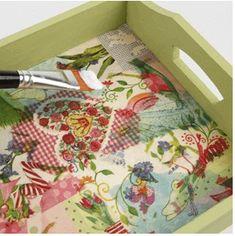 Mod Podge On Wood, Diy Mod Podge, Mod Podge Crafts, Napkin Decoupage, Decoupage Tutorial, Decoupage Ideas, Color Crafts, Fun Crafts, Arts And Crafts