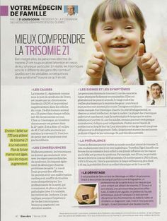 Santé: Mieux comprendre la Trisomie 21 - Frawsy Cycle 3, Down Syndrome, Education, French, Adhd, Thanks, Family Practice Physician, Developmental Disabilities, The Hours