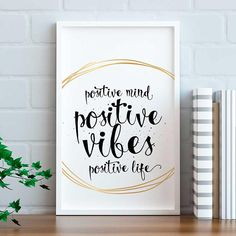 Positive Motivational Quote Print Positive Mind, Positive Vibes, Motivational Quotes, Inspirational Quotes, Quote Prints, Mindfulness, Positivity, Handmade Gifts, Etsy