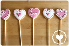 Pink and white cookie pops