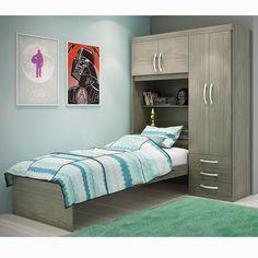 Otimize o espaço do seu #quarto com um móvel multifunção. Este móvel é um #guardaroupa com #cama, o que facilita a #organização quarto. #Prod145620 #decoração