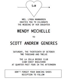 The wedding invite I designed