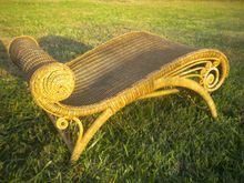 Very Rare Antique Natural Wicker Footstool Circa 1890's