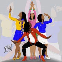 Omega Psi Phi, Alpha Kappa Alpha Sorority, Zeta Phi Beta, Delta Sigma Theta, Sorority And Fraternity, Sisters By Heart, Sister Friends, Family Values, Greek Life
