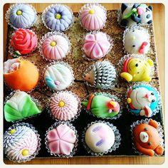 Japanese Treats, Japanese Food Art, Japanese Sweet, Japanese Candy, Japanese Wagashi, Happy Foods, Rice Cakes, Sweet Desserts, Confectionery