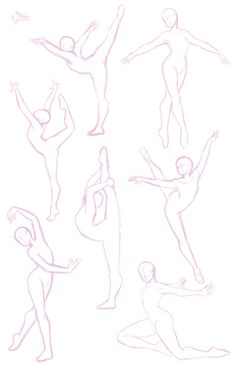 "Ballet pose study (plus one random hand that looked kinda nice so it got stuck up there in the corner) Feel free to use for pose references if you wish, I just did an image search for ""ballet poses"" and worked off some photographs that I liked so it's not like I own them or anything."