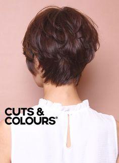 Brunette | Speels Effect | Pixie Cut | Kort haar | CUTS & COLOURS