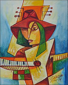 Woman & Keyboard by Jose Salazar Vazquez