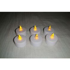 LED candle flameless tea light flickering candle light set of 6 led diya