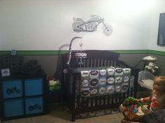 Custom Motorcycle Biker Baby 4 Piece Mixed Prints Crib