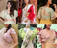 13 latest saree blouse patterns for best ruffle sleeve blouse patterns puff sleeves blouse designs 30 blouse designs for saree to style in blouse archives kresentStylish Saree Blouse Sleeves Designs … Full Sleeves Blouse Designs, Blouse Neck Patterns, Blouse Designs High Neck, Silk Saree Blouse Designs, Bridal Blouse Designs, Modern Blouse Designs, Latest Saree Blouse, Frill Blouse, Sarees
