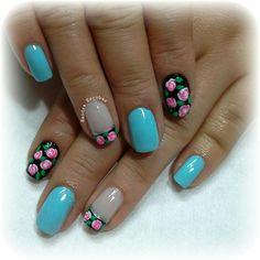 Vintage Mani Pedi, Manicure And Pedicure, Love Nails, My Nails, Short Nails, Beauty Nails, Fashion Beauty, Nail Designs, Make Up