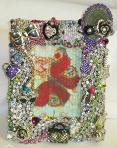 Silver PHOTO Frame Vintage RHINESTONE by 2charmedanddangerous, $90.00