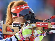 Fotogalerie: Gabriela Koukalová střílí ve stíhačce na MS. Nordic Skiing, Cross Country, Nerf, Athlete, Film, Sports, Winter, Women, Pictures