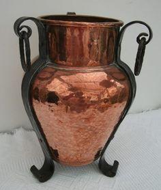 Antiques Atlas - Arts & Crafts Copper Vase On Feet