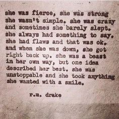 Love...Love...Love this Quote #tough #fierce #women #words #quotes #inspiration