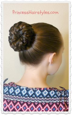Easy hairstyle tutorial. Pinwheel bun shortcut.