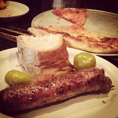 """omg yummy... Sausage and pizza, Santarpio's, East Boston... it's an absolute """"must go"""""""