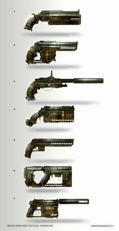 Pistols and Revolvers by TomEdwardsConcepts.deviantart.com on @deviantART