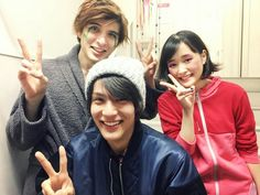 """I went n see the musical ""The earth Gorgeous (lit.) yesterday. Then, I met up w Yu Shirota n Sakurako Ohara after that. The stage was so exciting n their singing voices were awesome. I really wanted to attempt a stage!!!  Yu's been like my big bro. after co-starring in J drama ""GTO"", n Sakurako & I are Team 'Suikyu Yankees'"", Jan/18/16"