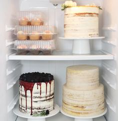 current fridge status = AT CAPACITY (finished cakes in my stories!)