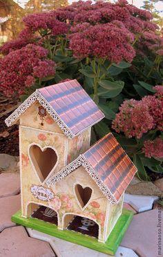чайный домик - подарок,домик для чая,чайный домик,чайный домик декупаж