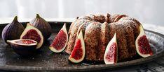 Viikunakakku | Makeat leivonnaiset | Reseptit – K-Ruoka No Bake Desserts, Sausage, French Toast, Peach, Cooking Recipes, Baking, Fruit, Breakfast, Food