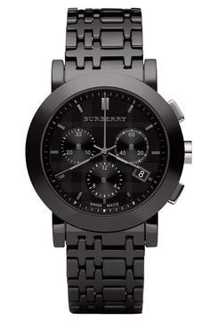 It's in the details. Black-on-black men's chronograph