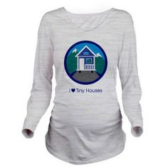 Ok, so it's not exactly a house...but it has to do with tiny houses and family. :] Long Sleeve Maternity T-Shirt Mountain Scene (Ash Grey)